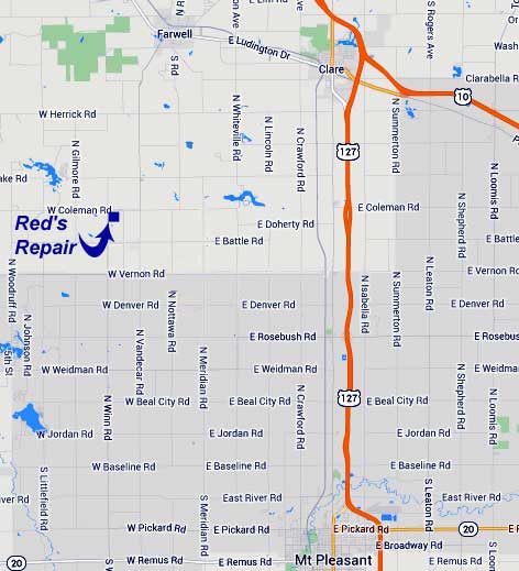 Map to Reds Repair
